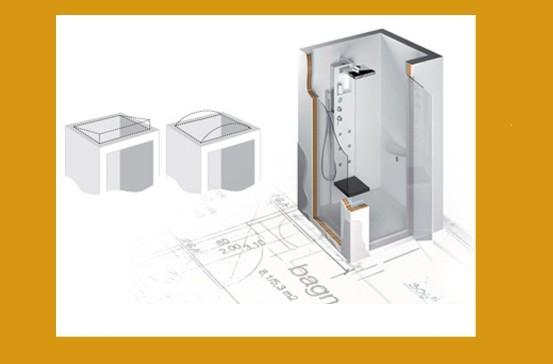 Cabine Doccia Complete : Box doccia multifunzione